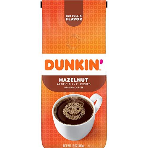 Dunkin' Hazelnut Flavored Ground Coffee, 12 Ounces