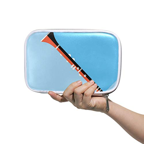 FANTAZIO Stifte-Organizer Suona Instrument Deluxe PU Leder Kosmetiktasche Bleistiftbox groß für Bleistifte oder Make-up Pinsel