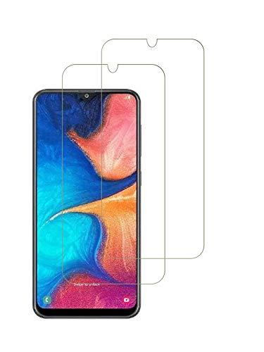 WEOFUN 3 unidades de Cristal Templado para Samsung Galaxy A20e, [dureza 9H] [Ultra Clear][Antiarañazos, sin burbujas] [ID de huellas dactilares] Screen Protector Cristal