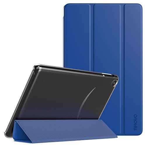 TiMOVO Hülle für Das Neue Fire 7 Tablet (9th Generation - 2019 Release), Ultra Leicht Schutzhülle mit durchsichtiger Rückseite, Auto Schlaf/Wach Funktion, Magnetische Abdeckung - Blau