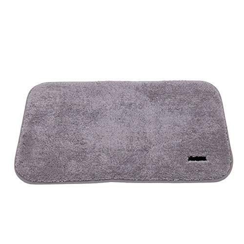 LICHAO grijze badmat, diatomeeënaarde absorberend, anti-slip badkamer vloermat voor snel water drogen, twee pakketten.