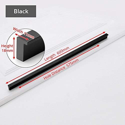 DFG 2 uds manijas Estilo Negro para gabinete manijas Doradas T Bar aleación de Aluminio Tiradores de Armario de Cocina perillas de cajón manija de Muebles Hardware