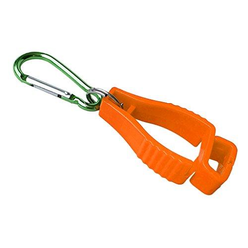 Flameer 高強度 手袋クリップ ガードホルダー ハンガー ガード 労働 ワーククランプ グラバーキャッチャー 全6色 - オレンジ