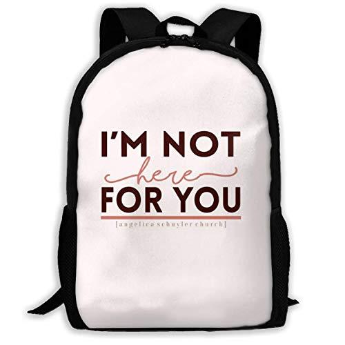 XCNGG Ich Bin Nicht für Sie da. Schultasche Teenager Casual Sports Rucksack Männer Frauen Student Travel Wandern Laptop Laptop Rucksack