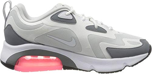 Nike W Air MAX 200, Zapatillas de Running para Mujer, Grigio (Pure Platinum/White/Cool Grey 004), 38 EU
