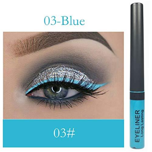 Flüssiger Lidschatten Stift Langlebig Glänzend Glitter Shimmer eyeshadow Wasserfest Metallic Pigmente, Waterproof Cosmetics Farben Eye Makeup, Lidschatten Wasserdichte Augenschatten lippenstift Base