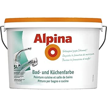 Alpina 5 Liter Bad Kuchen Spezialfarbe Weiss Matt Wandfarbe Vorbeugend Gegen Schimmel Amazon De Baumarkt