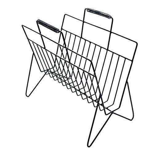 YUQIYU Marco simple piso estilo moderno bastidor creativa estantería de hierro forjado salón interior cremallera sencilla rack de almacenamiento en rack de mesa (Color: NEGRO, tamaño: 40 * 40 * 20 cm)