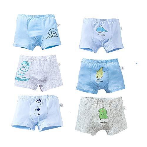 CHAYANG 6 Paar süße Tiere, Kinder-Jungen-Höschen, Baumwolle, Kleinkinder, Jungen, Unterwäsche, Boxershorts, 0–12 Jahre Gr. 62-92, mehrfarbig