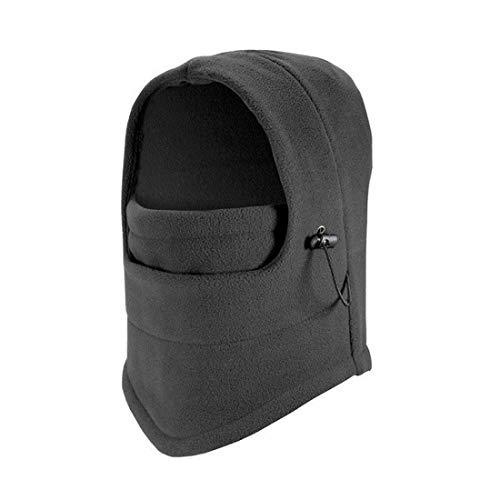 ECYC® Winter Windproof RandonnéE Caps Thermique Polaire Balaclava Masque, Gris