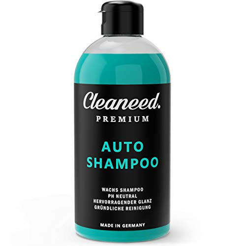 Cleaneed Premium Autoshampoo mit Wachs – Made IN Germany – pH-Neutral, Rückstandsfrei, Schonende Reinigung, Starke Schaumbildung