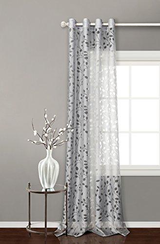 Cortina translucida con 8 ollao de 140x260 para salón, habitación y