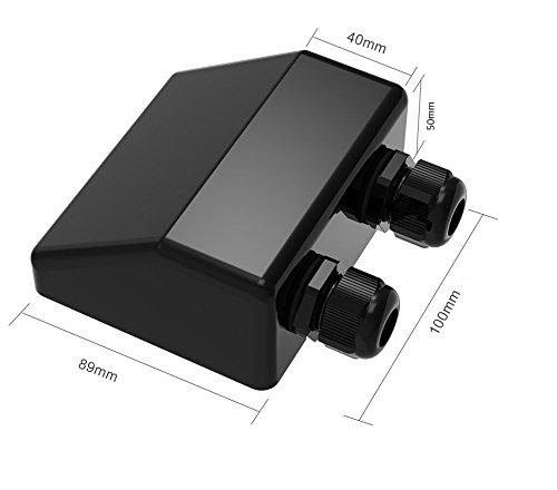 Spark Doble cable de entrada de glándula resistente al agua ABS caja para tipos de cable de 4 mm a 12 mm, panel solar, autocaravana, caravana, ...