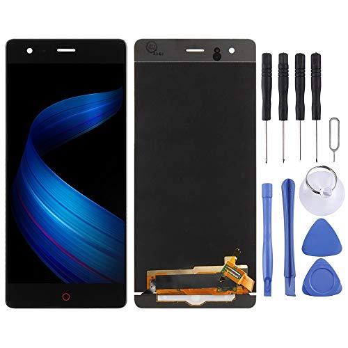 ZENGMING Repair Parts LCD Screen and Digitizer Full Assembly for ZTE Nubia Z17 Lite NX591J (Black) Phone Replacement Parts (Color : Black)