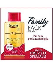 Eucerin pH5 - Olio Detergente Doccia, 2 x 200 ml