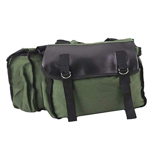 B Blesiya Double Strap Flap Saddlebag Saddle Box - Green