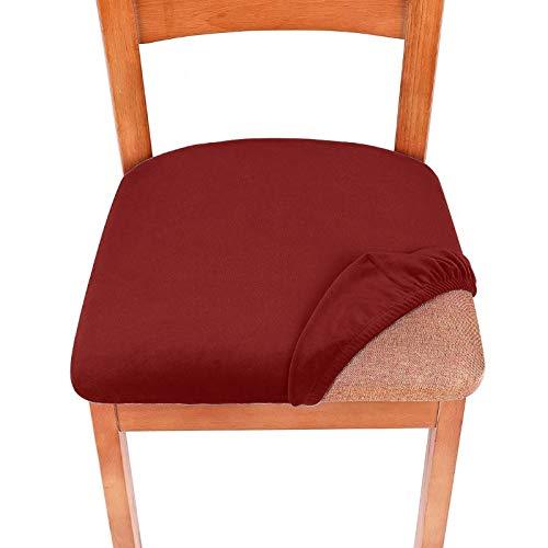 Comedor de terciopelo de estiramiento Cubiertas tapizadas para sillas de asiento de cojín tapizadas Destinales extraíbles con muebles lavables Protector ( Color : Wine , Specification : Universal )