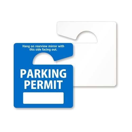 Amazon Com Write On Parking Permit Rearview Mirror Hang Tag By