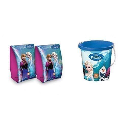 Lively Moments Strandeimer Disney Frozen - die Eiskönigin in blau 16,5 cm & passende Schwimmflügel