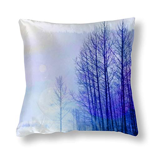 Satin Pillowcase Purple Forest Pillowcases, Pillowcase for Hair and Skin, Pillows for Sleeping, Throw Pillow Covers, Cushion, The Best Gift for Family Member, Friends