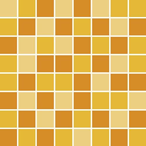 PrintYourHome Fliesenaufkleber für Küche und Bad | Mosaik Sonnenblume matt | Fliesenfolie für 10x10cm Fliesen | 122 Stück | Klebefliesen günstig in 1A Qualität