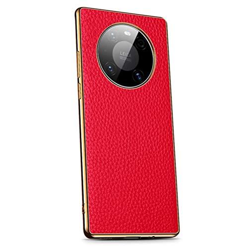 LUSHENG Funda para Huawei Mate 40 Pro, Carcasa Trasera de Cuero Parachoques...