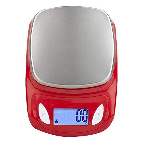 Plataforma De Cocina Digital Balanzas De Pesaje Balanza De Cocción Electrónica Balanza Dietética Salud HUYP (Color : Rojo)