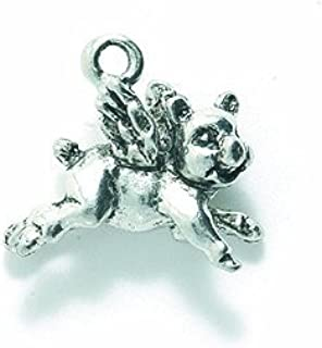 Shipwreck Beads Pewter Elephant Charm 6-Piece Gold 12 by 15mm