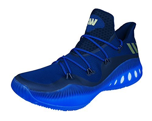 adidas Crazy Explosive Low Hommes Chaussures de basket-ball - Bleu Foncé - 54.67