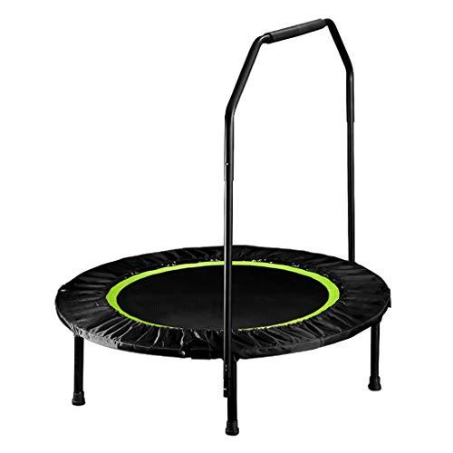 Trampoline E-mini-fitness, in hoogte verstelbaar, maximale belasting 150 kg, 40 inch, fitness rugplank voor lichaamsoefeningen en aerobic, geluidsarme rubberen kabelophanging