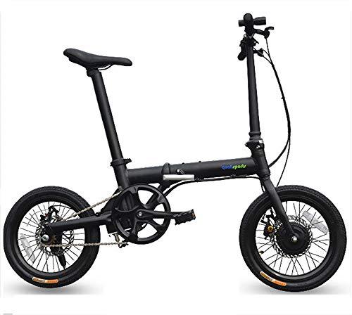 Ebike plegable mini de 16 pulgadas - Bicicleta de montaña eléctrica híbrida...