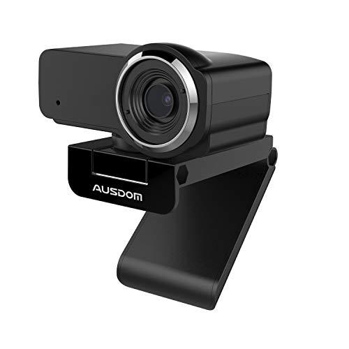 Computer KameraWebcam Full HD 1080P Eingebautes Mikrofon Breitbild Videoanrufen und Aufnahmen Support Facebook Youtube Twitch Streaming Kompatibel fur Windows 1087 und Mac