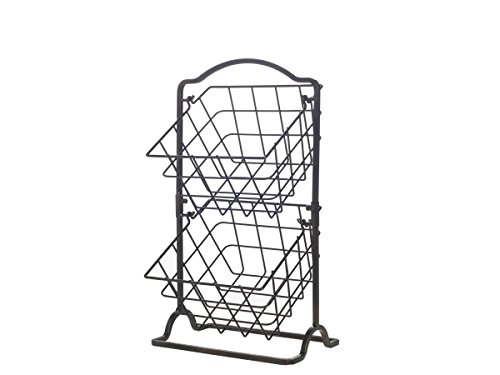 Gourmet Basics by Mikasa General Store 2-Tier Hanging Basket  $18 at Amazon