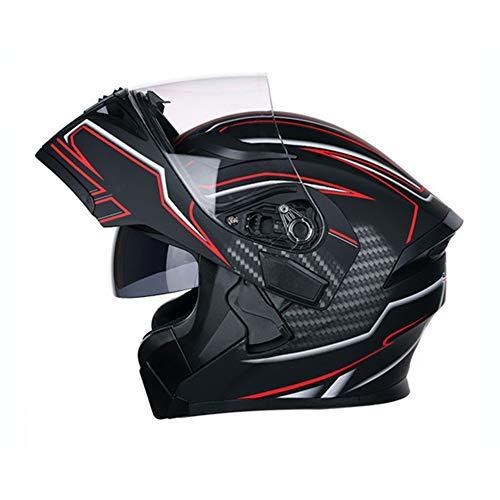 Sicuro QTech modulare Flip-up Casco del Motociclo con Double Visor Fluorescente M-XL Sport