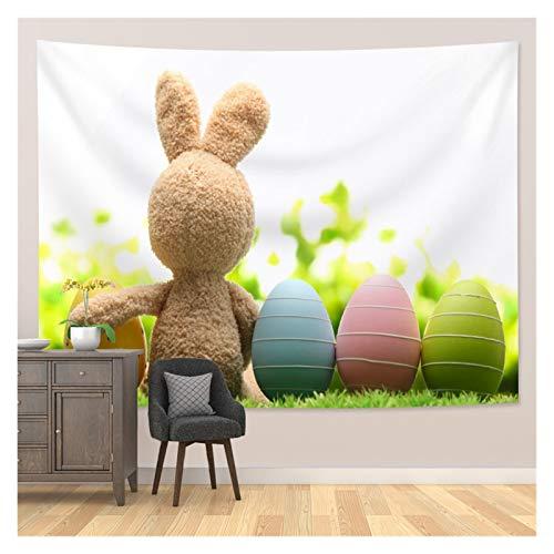 JHWSX Tapiz de Pascua, Tapiz de Conejo de Pascua, Decoración de Pared, Tapiz Colgante Popular, Fondo de Regalo de Cumpleaños, Fiesta, Colgante de Pared Estético para Dormitorio, Sala de Estar