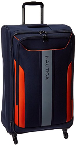 Nautica 28' Expandable Spinner Luggage, Navy/Black