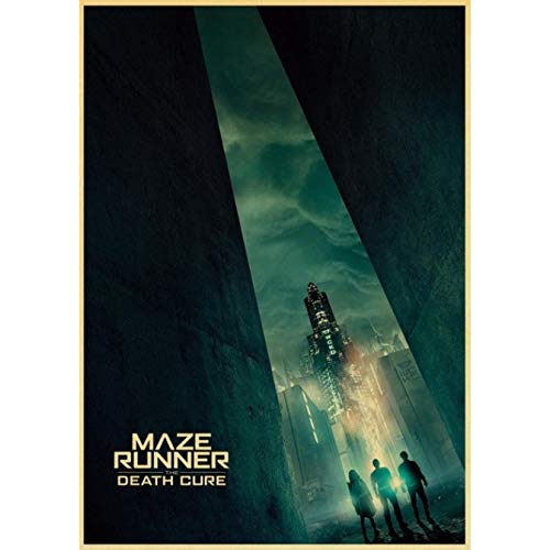Maze Runner Retro Wall Poster Home Decoration Stickers Home Wall Sticker Art Canvas Painting Poster Frameless Painting 40 x 50 cm (F: 1177)