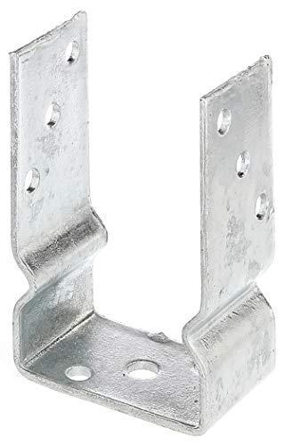GAH-Alberts 217624 U-Pfostenträger | zum Aufschrauben oder zum Einbetonieren | feuerverzinkt | lichte Breite 91 mm