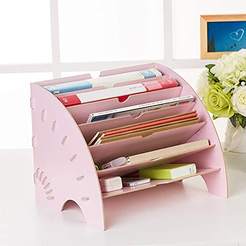Almacenamiento creativo, bandeja de archivos de madera, clasificador de archivos, escritorio A4, caja de almacenamiento ordenada, estante de almacenamiento, bandeja, papelería de oficina, utilizado p