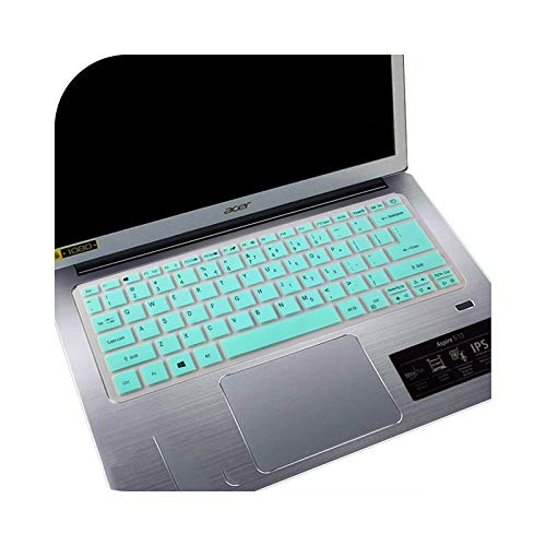 for Acer Swift SF113 S5-371 SF514 SF5 Swift 5 Swift 3 Aspire S13 14 SF314 Spin 5 Laptop 13.3'' Keyboard Cover Skin Protector-whiteblue-