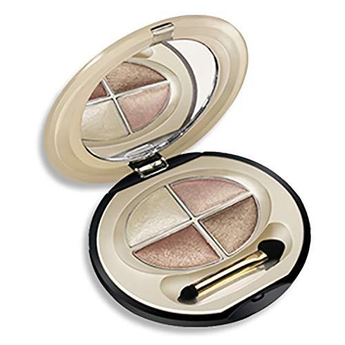 EyeShadow 4 Colors Eyelid Color Waterproof Eye shadow Makeup Metallic Luminous Perfect Shades Eyeshadow Palettes Warm Tone 04#