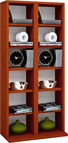 "VCM Regal DVD CD Rack Möbel Aufbewahrung Holzregal Standregal Möbel Anbauprogramm Kirschbaum 92x42x20 cm \""Milano\"""