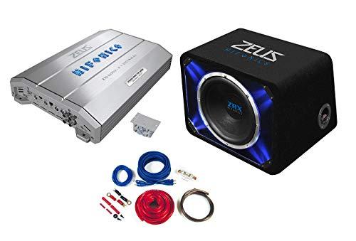 Hifonics Zeus Baspakket 2-kanaals versterker subwoofer kabel 1500 Watt