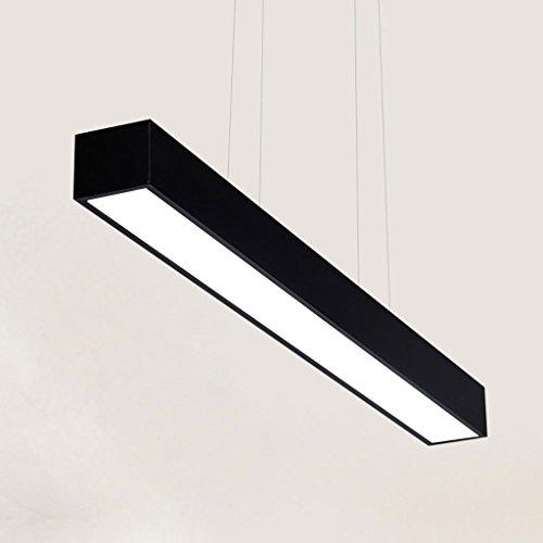 Lumières de Restaurant de LED Moderne Minimaliste Lumière Noire et Blanche Noire d'art d'art Lampe de Bureau Chandeliers (Couleur : Lumière Chaude)