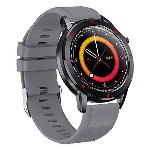 LTLJX Inteligente Reloj, Rastreador de Actividad Monitor de Ritmo cardíaco a Prueba de Agua IP68 Deporte Mujer Hombre Niño Presión Arterial Cronómetro Contador de frecuencia,Gris