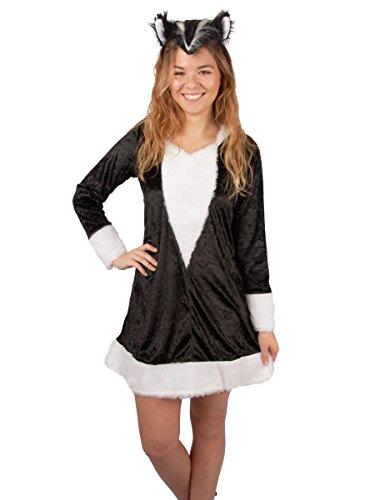 Andrea-Moden Stinktier Kleid exklusiv Stinktierkostüm Kostüm Damen Fasching NEU (34)