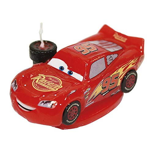Dekoback 02-08-00167 Candela Decorativa per Torta Cars Disney