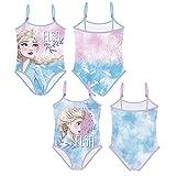 Familie24 Frozen Badeanzug Auswahl Bikini Beachware Bademode Kinderkleidung Anna ELSA Die Eiskönigin (Träger rosa, 6 Jahre)