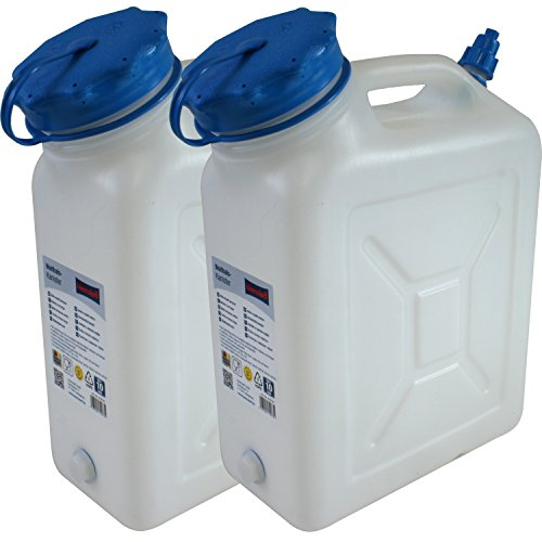2x Weithals-Kanister 10 Liter PRO 2er Set Lebensmittelkanister Wasserkanister Liter