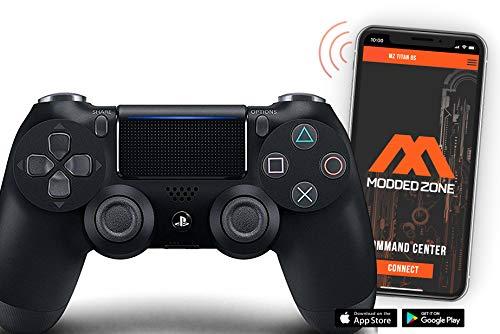 Standard Black PS4 PRO Smart Rapid Fire Modded Controller Mods für FPS alle großen Shooter Games Warzone & mehr (CUH-ZCT2U)
